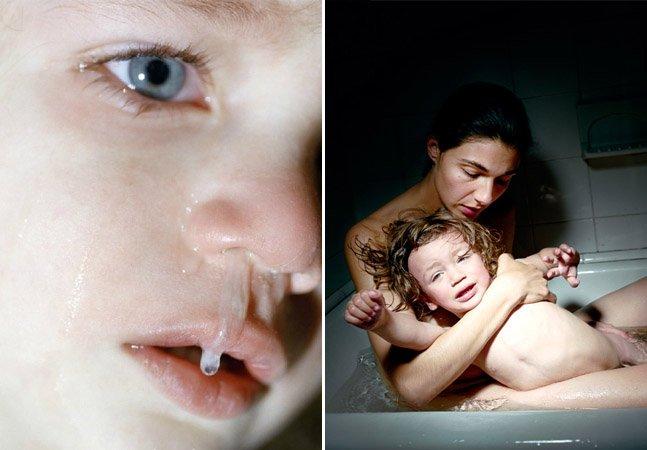 Série de fotos mostra as dores e os prazeres de ser mãe