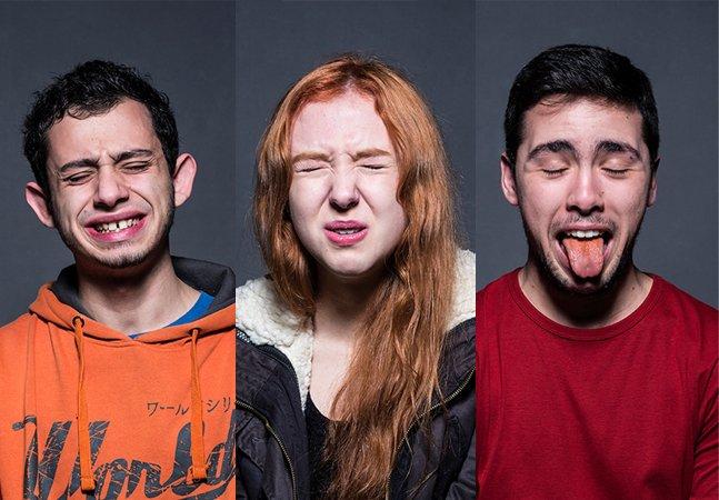 Fotógrafa registra as reações de adultos ao comerem pimenta malagueta pura