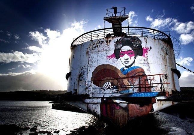5 lugares abandonados pelo mundo que viraram galerias de arte espontâneas