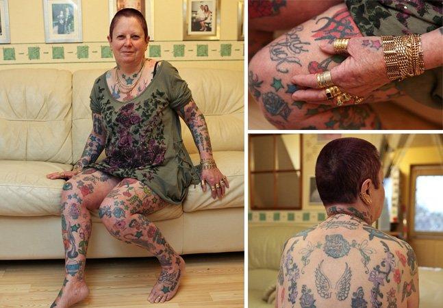 Vovó faz uma tatuagem nova por semana e já soma 268 obras de arte na pele
