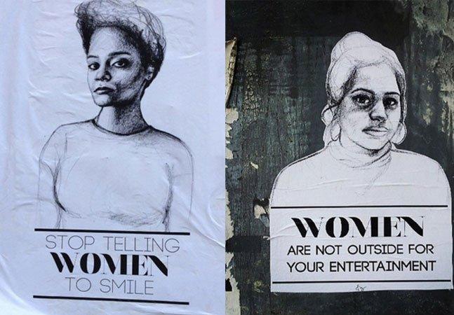 Artista deixa recado para os homens  que acham que as roupas das mulheres lhes dão algum direito