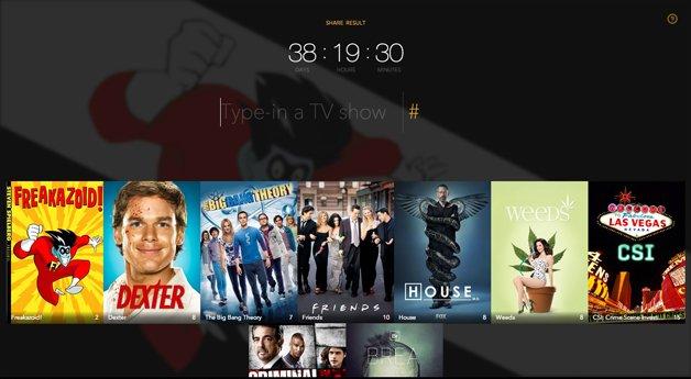 Site mostra tempo investido em séries