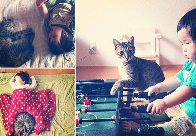 Amizade entre menina japonesa e seu gatinho vira sucesso no Instagram