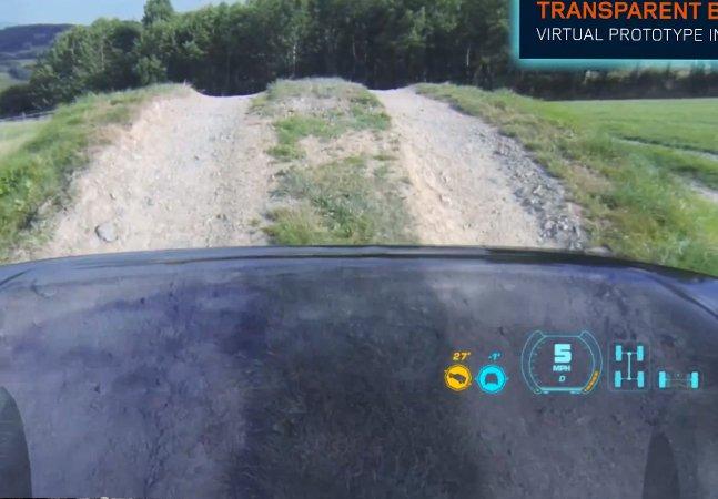 E se você pudesse ver através do capô do seu carro?