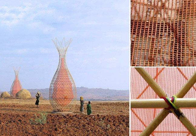 Veja como uma torre é capaz de transformar vapor em água potável para regiões carentes