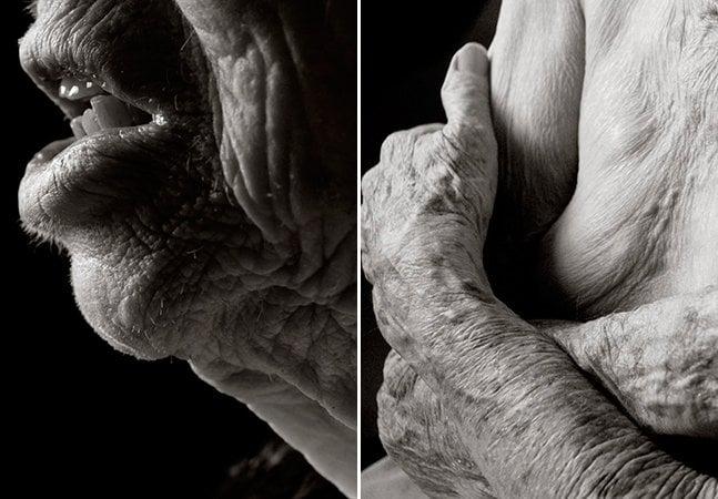 Fotógrafa revela a aparência do corpo humano depois dos 100 anos