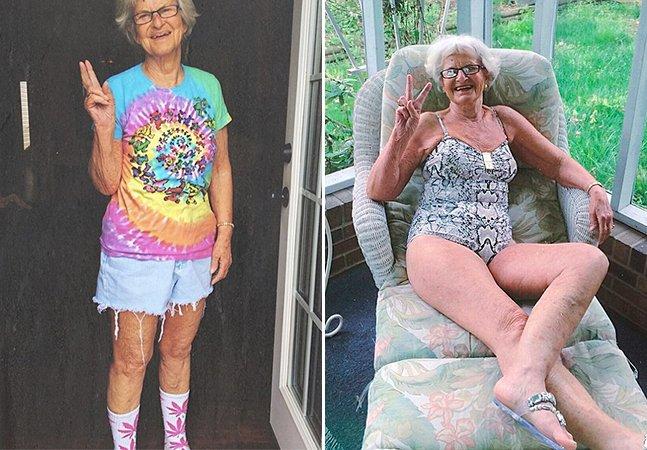 Conheça a bisavó de 86 anos que escolheu se manter jovem e hoje é um sucesso no Instagram