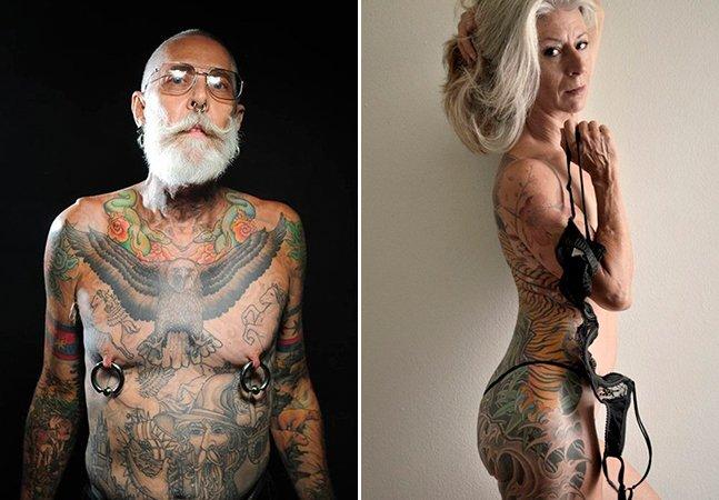 Se você sempre se perguntou como as tatuagens ficam quando envelhecemos, precisa ver essa série de fotos