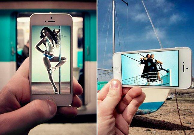 Fotógrafo usa o iPhone para mesclar cenas de filmes com situações do cotidiano e o resultado é incrível