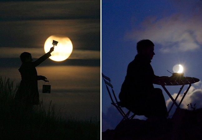 Série de fotos criativa (e divertida!) mostra a lua como você nunca viu antes