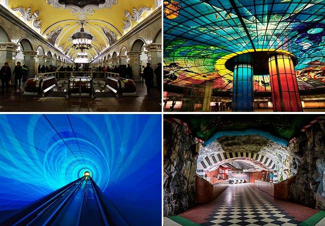 As 20 estações de metrô mais belas do mundo