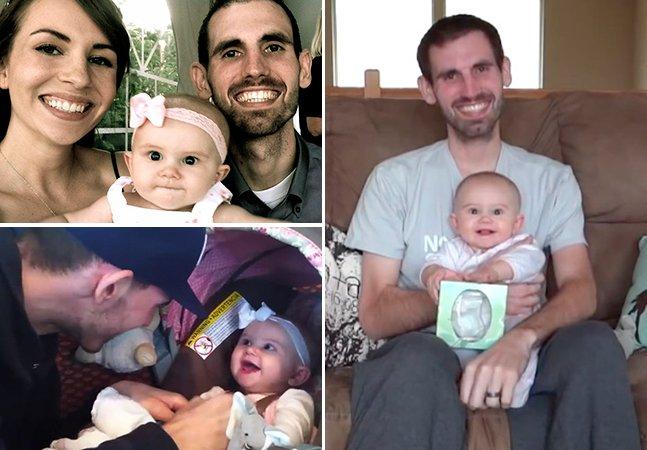 Pai com câncer terminal grava vídeo emocionante para se despedir da filha de 7 meses