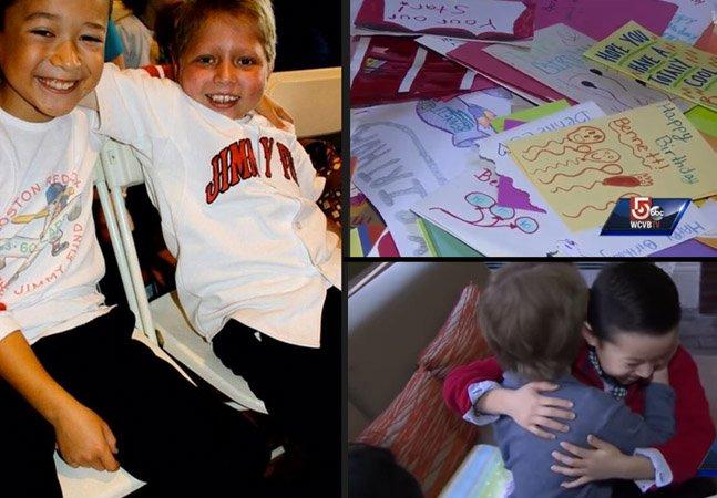 Menino junta 2 mil cartões de aniversário vindos do mundo inteiro para dar para amigo que luta contra a leceumia