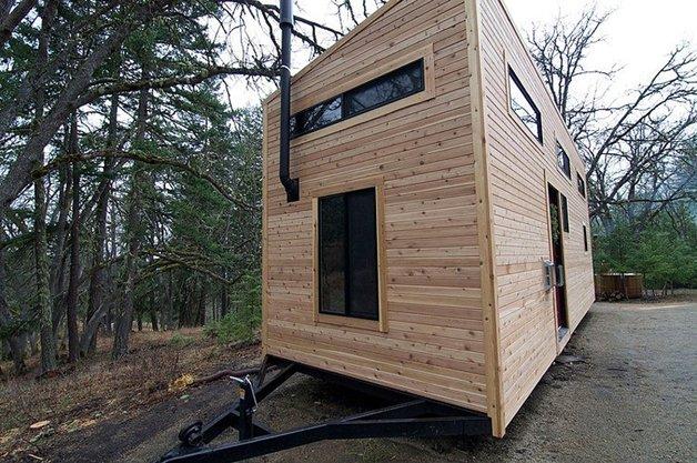 Casa construída sobre rodas