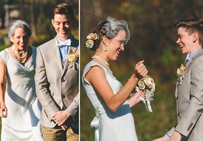 Série de fotos mostra a emoção de mulheres vendo suas noivas no dia do casamento