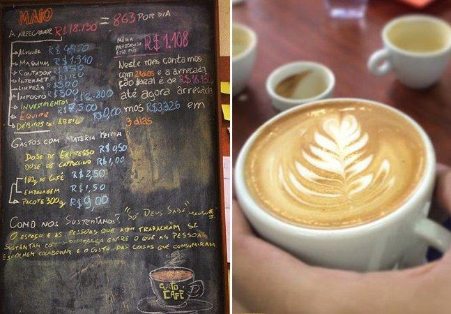 Neste café no Rio de Janeiro, você decide quanto quer pagar