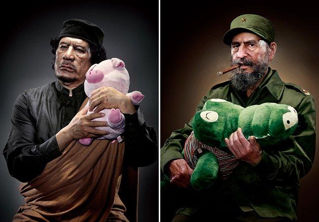 Artista coloca infames ditadores abraçados a bichinhos de pelúcia