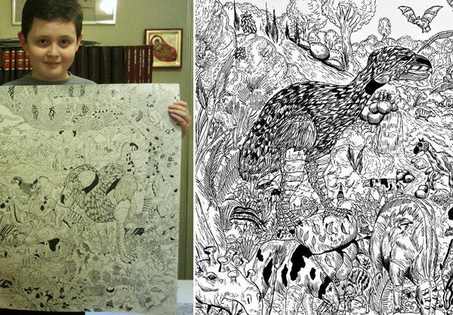 Esse menino de 11 anos já escolheu o que quer ser quando crescer: um baita artista