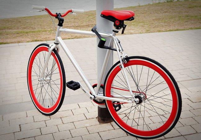 Com design inovador, essa trava resistente promete que nunca mais ninguém vai roubar sua bike
