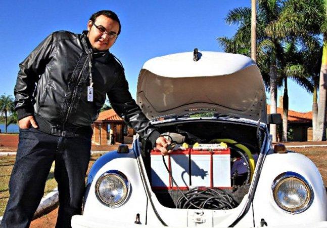 Engenheiro reinventa fusca elétrico capaz de rodar 100 km com apenas R$ 3,50