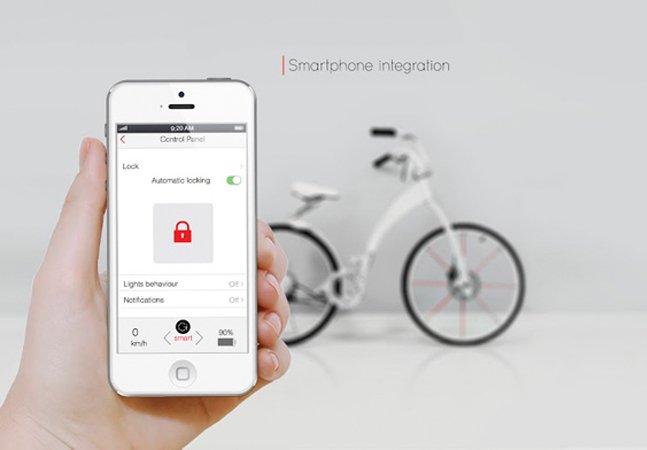A bike do futuro é dobrável e se conecta com seu smartphone
