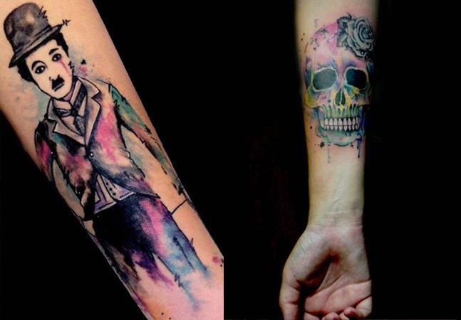 Aquarela na pele: conheça a tatuagem colorida dessa artista brasileira