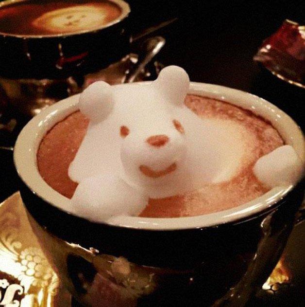 Arte 3D no café