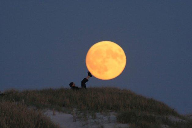 Brincando com a lua