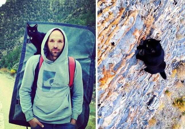 Este alpinista encontrou a melhor companhia para escalar montanhas: uma gata abandonada