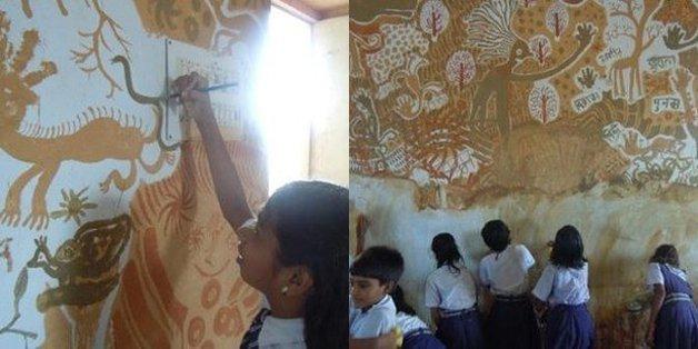 Escola na Índia ganha obra de arte