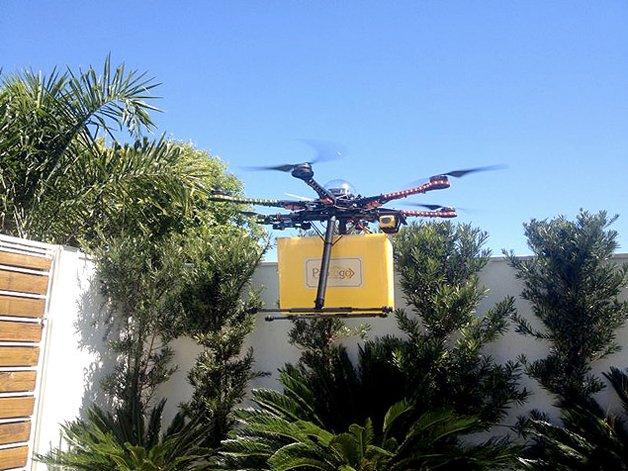 Entrega de pão via drone