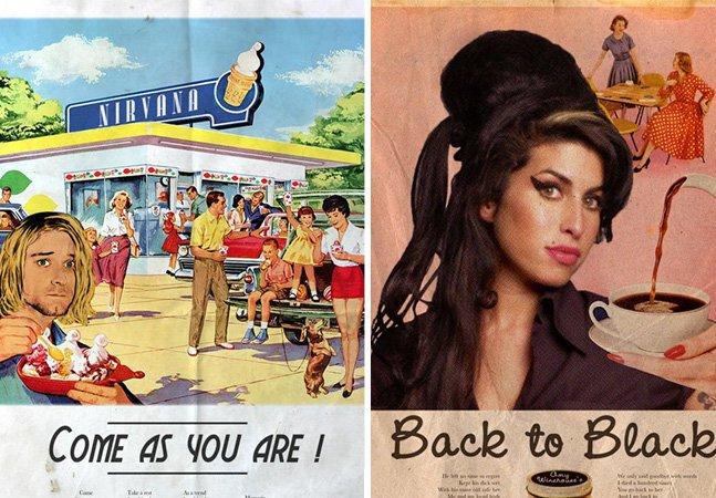 E se as estrelas pop de hoje fizessem anúncios do passado?