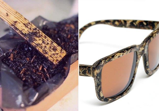 Designers desenvolvem os primeiros óculos feitos a partir de serragem de madeira