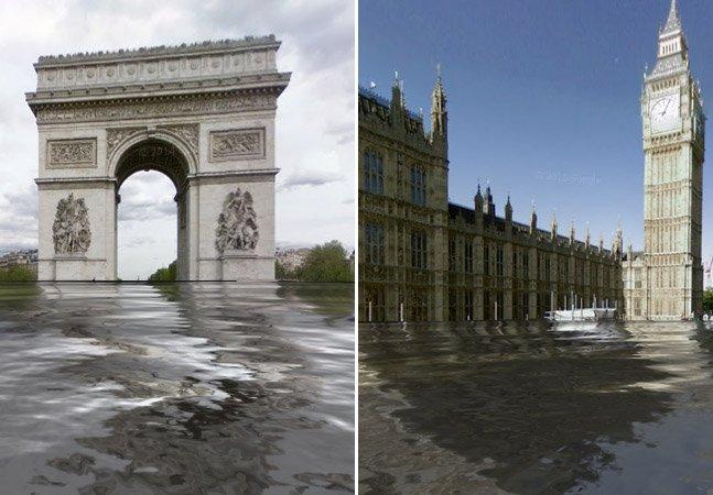 Saiba como os lugares que você conhece ficariam caso o mundo passasse por uma catástrofe climática