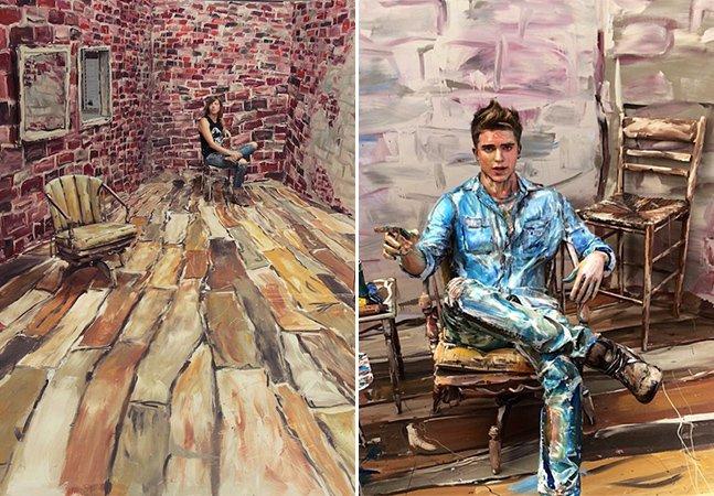 Artista especialista em 2D transforma sala comum em uma incrível pintura