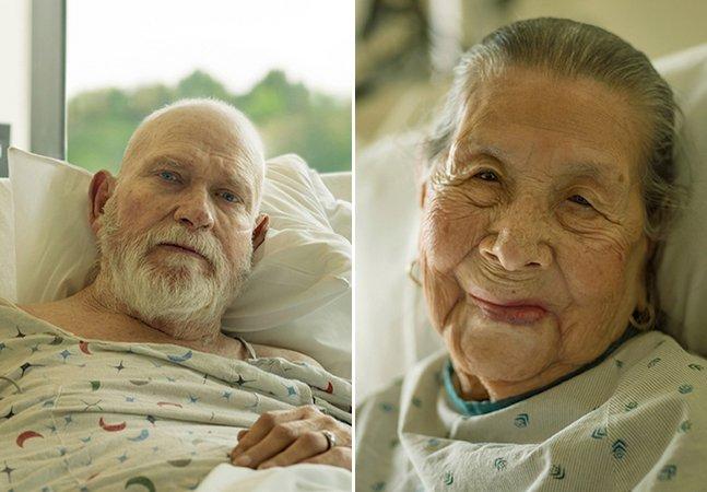 Fotógrafo registra expressões e lições ensinadas por doentes terminais