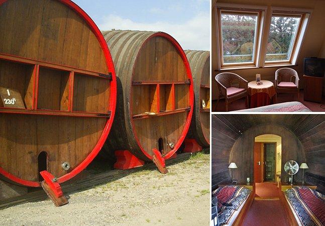 Durma dentro de um barril de vinho na Holanda