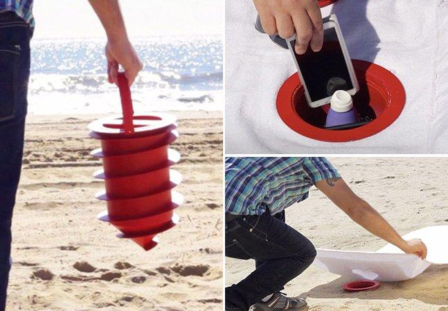 Produto inovador te permite curtir a praia sem se preocupar com seus pertences