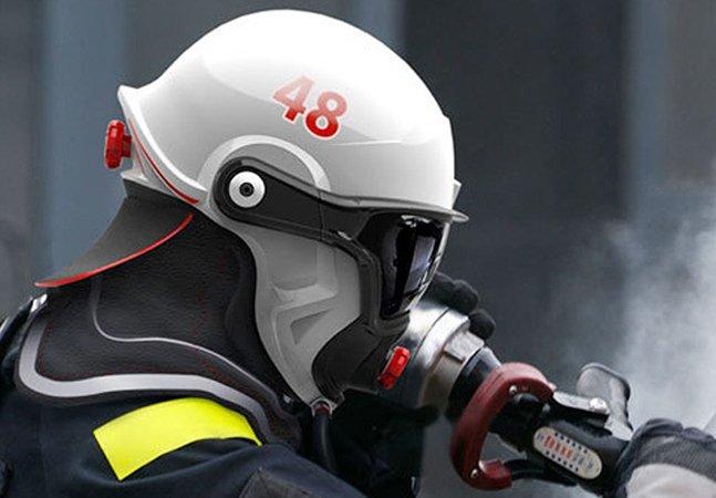 Capacete de bombeiro inovador usa realidade aumentada para ajudar a salvar vidas