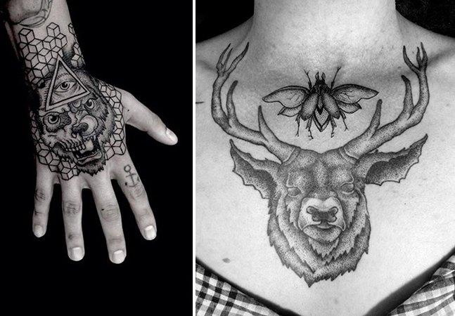 Talentoso artista brasileiro usa a técnica do pontilhismo para criar tatuagens marcantes