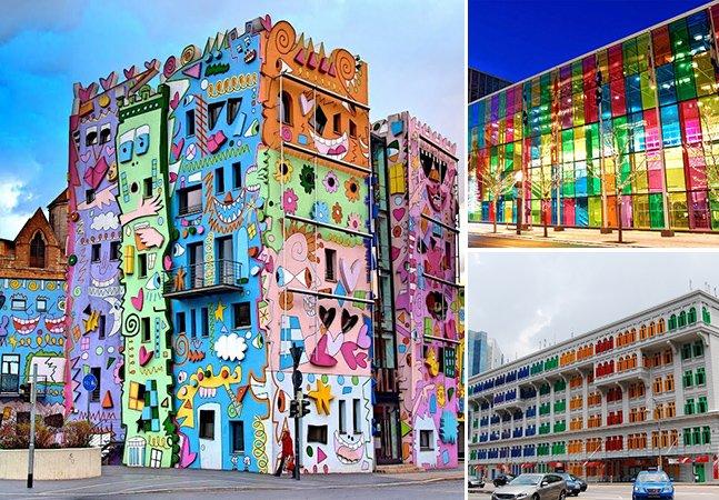 15 edifícios coloridos pelo mundo para você conhecer antes de morrer