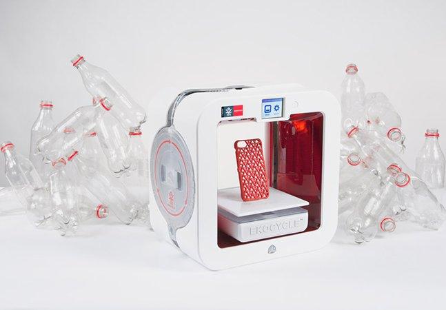 Conheça a impressora 3D sustentável que transforma garrafas PET usadas em novos objetos