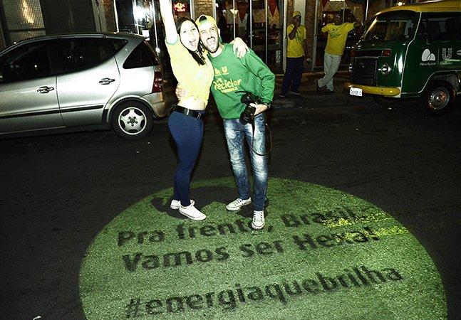 Projeto leva para as ruas de São Paulo energia em forma de mensagens dos torcedores para a seleção brasileira