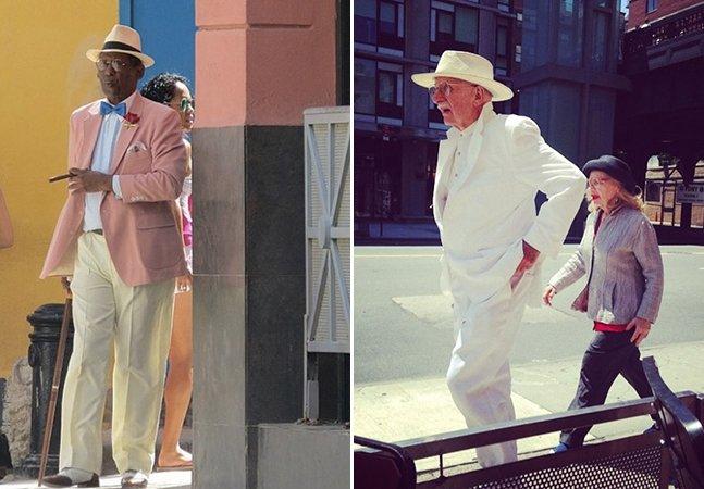 Publicitária fotografa velhinhos estilosos nas ruas de Nova York e mostra que moda e bom gosto não têm idade