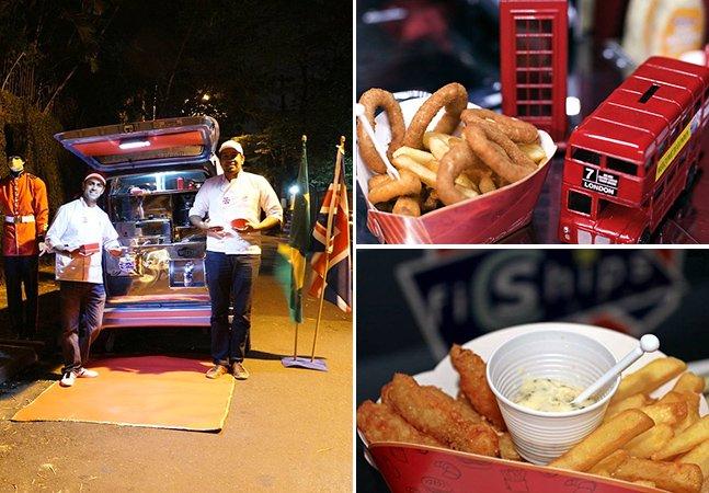 Brasileiro faz sucesso vendendo comida típica do Reino Unido pelas ruas de São Paulo