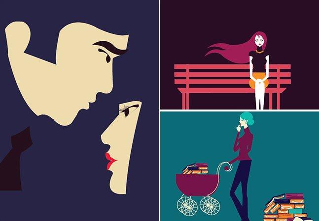 Artista cria série de ilustrações para palavras de várias línguas que não têm tradução