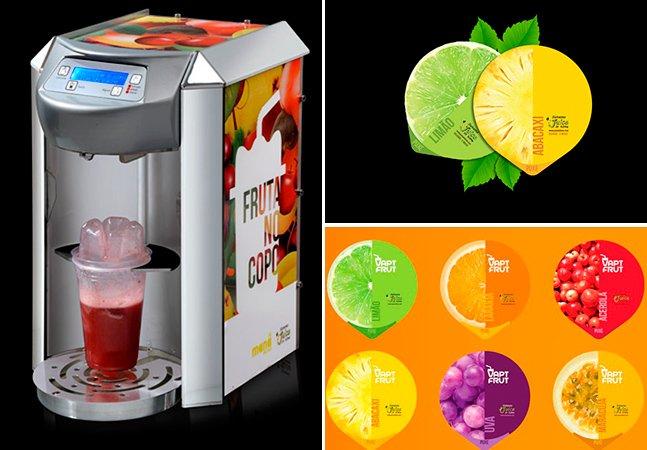 Empresa brasileira lança máquina que faz sucos naturais em 1 minuto com cápsulas como as de café
