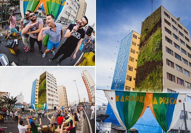Karaokê ao ar livre convida famílias paulistanas a soltar a voz e se reconectar com a cidade