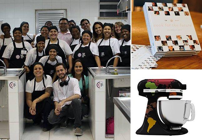 Projeto lança livro com receitas de chefs brasileiros famosos para promover inclusão social através da gastronomia