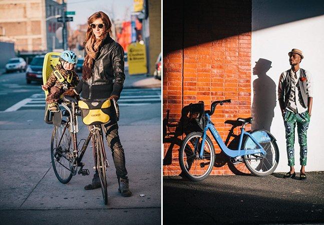 Fotógrafo percorre as ruas de Nova York para registrar pessoas estilosas com suas bikes